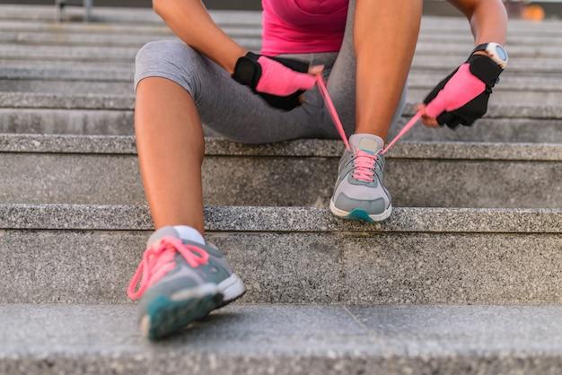 Fitness- und workout-wellness-konzept.