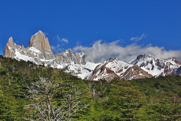 Fitz roy berg, el chalten, patagonien, argentinien