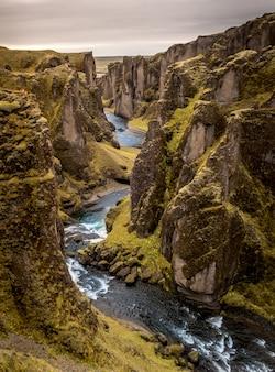 Fjardarargljufur canyon in island