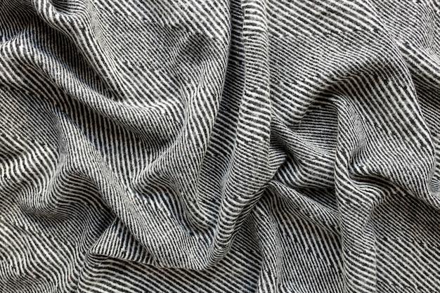 Flach gelegte stoffstruktur