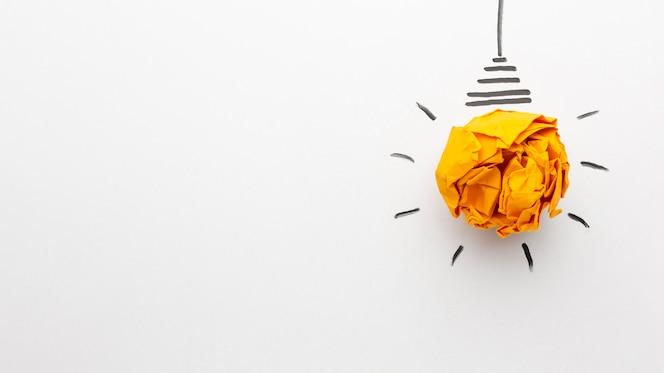 Flache abstrakte komposition mit innovationselementen