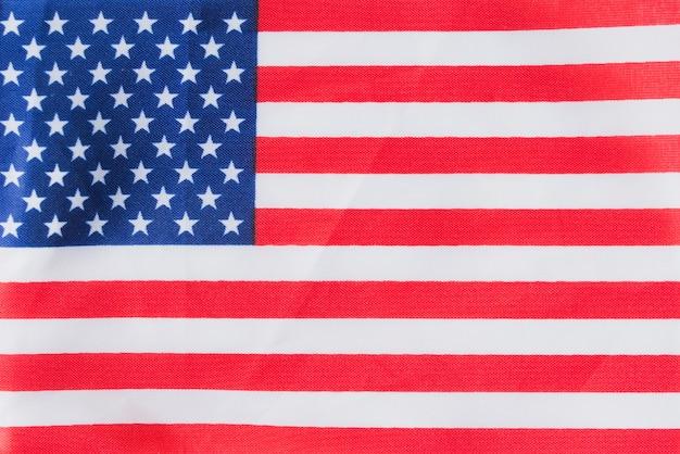 Flache amerikanische flagge