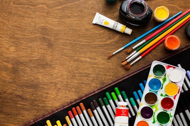 Flache kunsthandwerksgegenstände