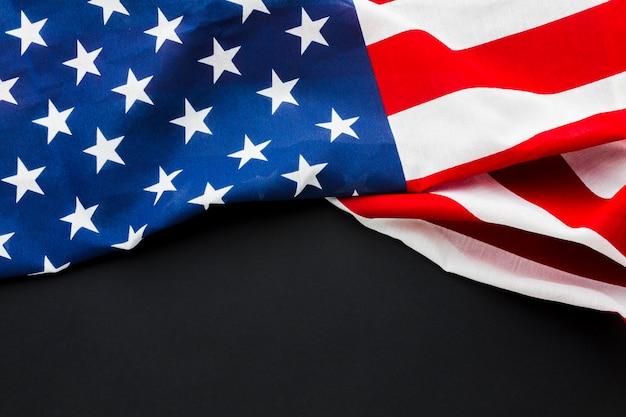 Flache lage der amerikanischen flagge
