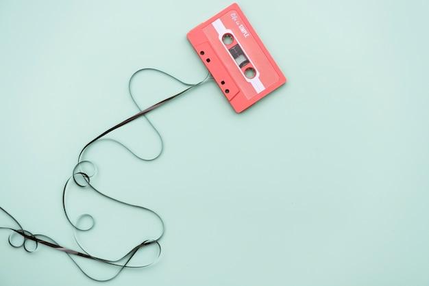 Flache lage der kassette