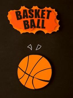 Flache lage des basketballs