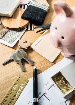Flache lage des immobilienkonzeptes