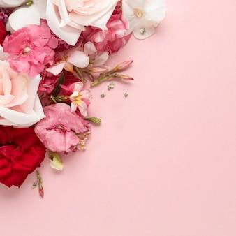 Flache lage des schönen valentinstagskonzepts