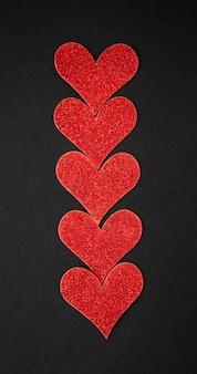 Flache lage des valentinstagskonzepts