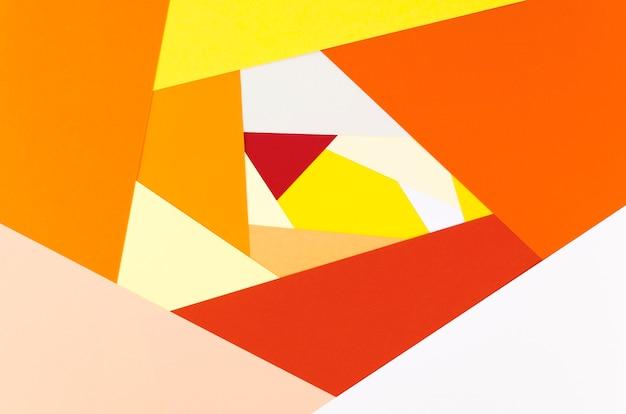 Flache lage des vibrierenden abstrakten papierformers