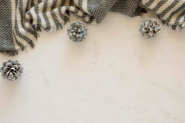 Flache lage niedlichen winter zebradruck schal kopierraum