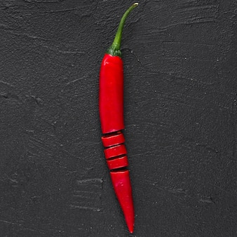 Flache lage von chili