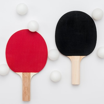 Flache lage von tischtennis