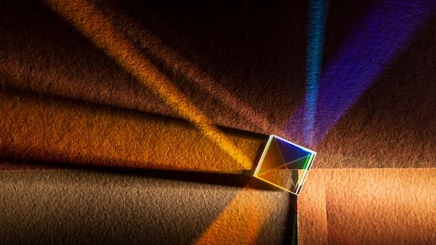 Flache laie abstrakte lichter prismeneffekt