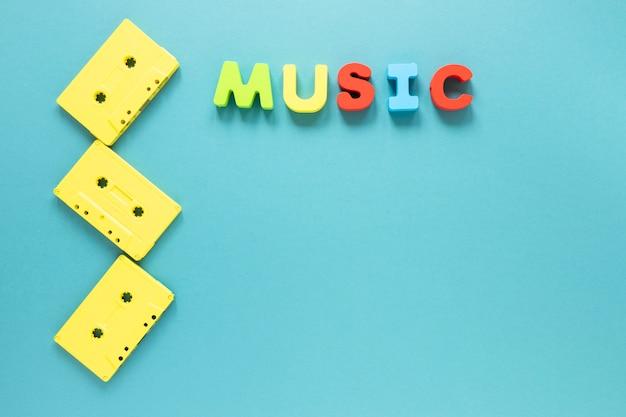 Flache laien-audiokassetten mit kopienraum