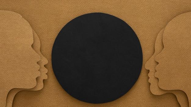 Flache laien schwarze leben materie gemeinschaft