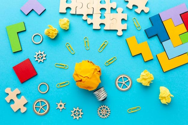 Flache laienkomposition mit innovationselementen