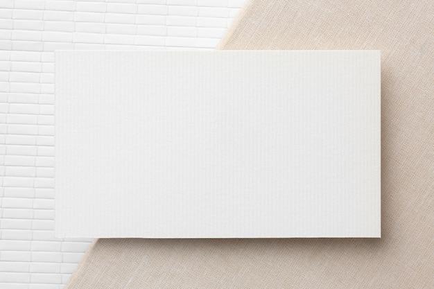 Flache laienkopienraum-geschäftsbesuchskarte