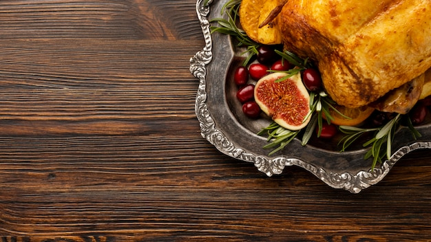 Flache laienweihnachtsmahlzeitzusammensetzung mit kopienraum
