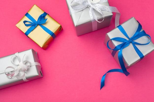 Flache laienzusammensetzung mit schöner geschenkbox