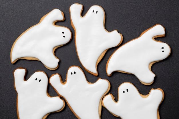Flache leckereien für halloween-party