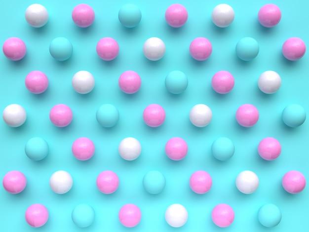Flache szenengruppe des gesetzten minimalen abstrakten musters 3d der geometrischen form des blauen rosas