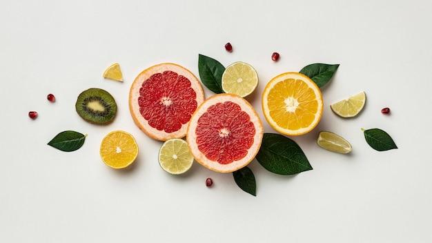 Flache zitrusfrucht