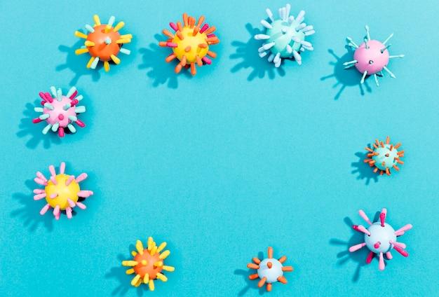Flacher laderahmen von bakterien