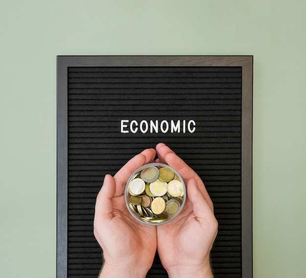 Flaches konzept der wirtschaftlichkeit