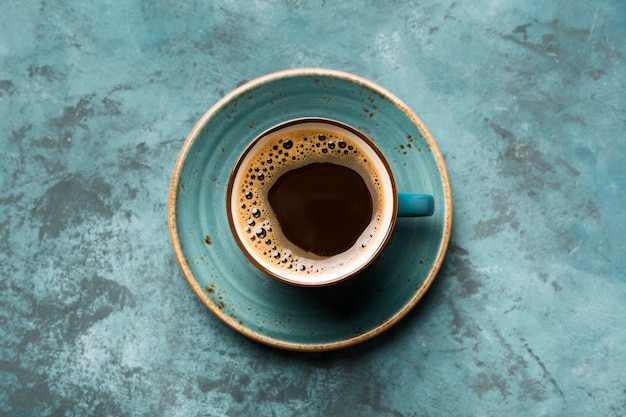 Flaches kreatives kaffeesortiment