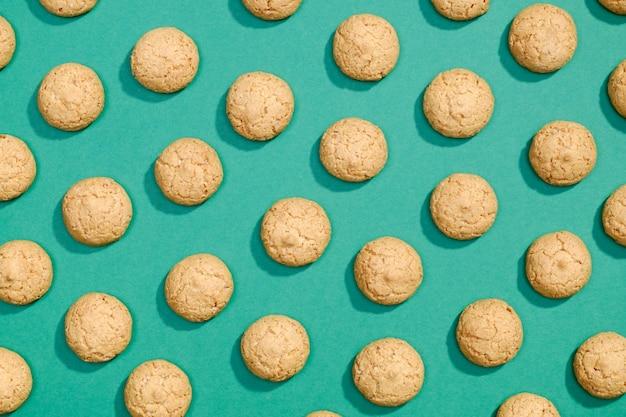 Flaches muster der süßen kekse
