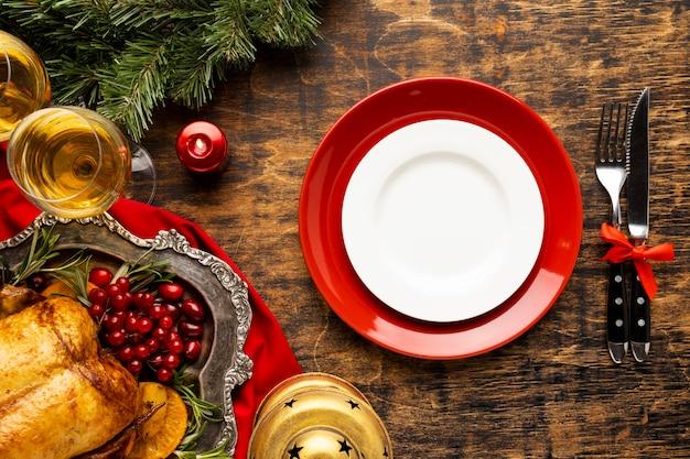 Flaches traditionelles weihnachtsküchensortiment