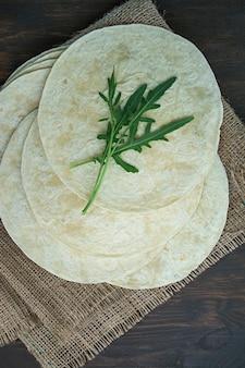 Fladen für tacos oder burritos.