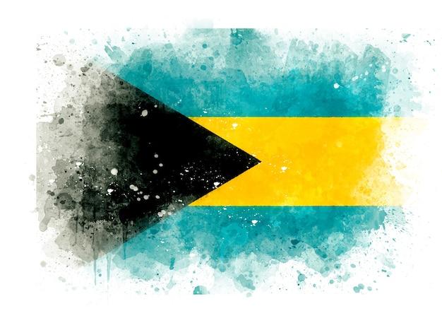 Flagge der bahamas als aquarellillustration