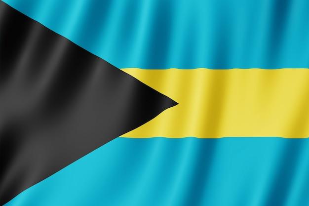 Flagge der bahamas weht im wind.