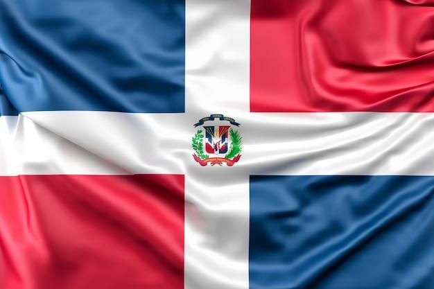 Flagge der dominikanischen republik