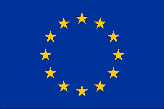 Flagge der europäischen union (eu)