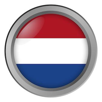 Flagge der niederlande rund als knopf