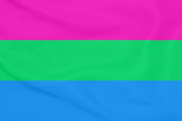 Flagge der polysexuellen gemeinschaft