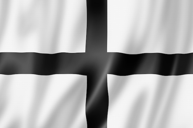 Flagge der region bretagne, frankreich