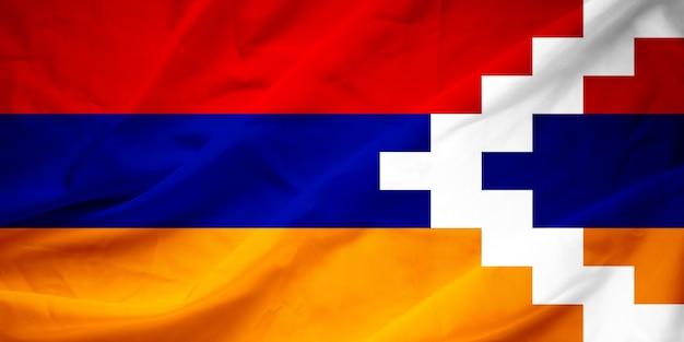 Flagge der republik berg-karabach (artsakh)