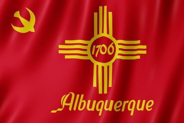 Flagge der stadt albuquerque, new mexico (usa)