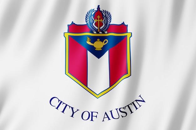 Flagge der stadt austin, texas (usa)