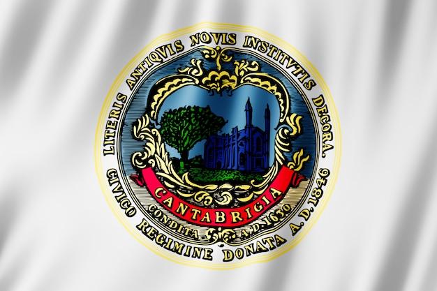 Flagge der stadt cambridge, massachusetts (usa)