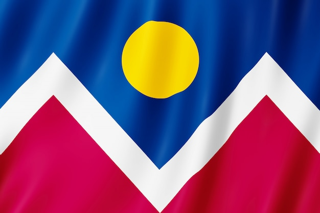Flagge der stadt denver, colorado (usa)