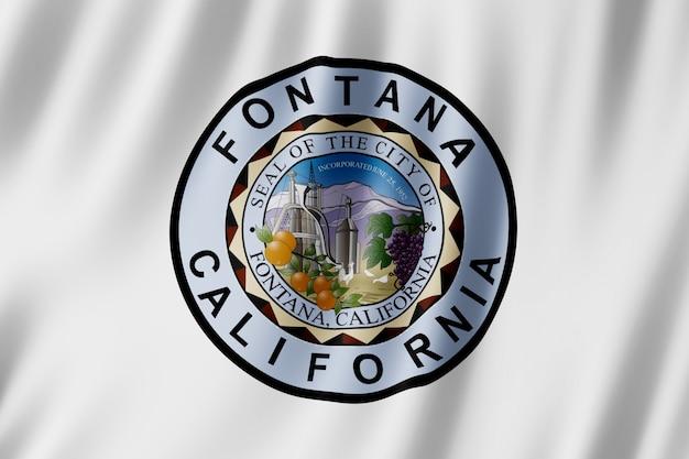 Flagge der stadt fontana, kalifornien (usa)
