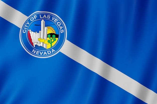 Flagge der stadt las vegas, nevada (usa)