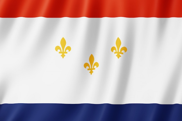 Flagge der stadt new orleans, louisiana (usa)