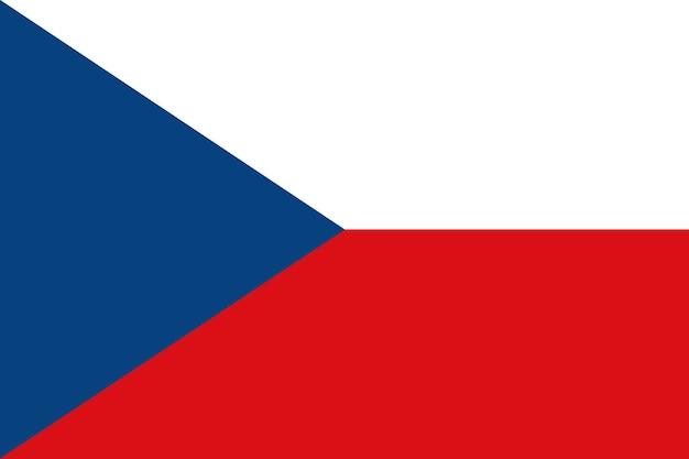 Flagge der tschechischen republik