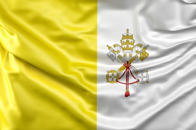 Flagge der vatikanstadt